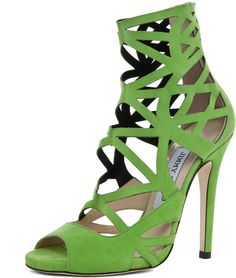 Jimmy Choo Viva Cut Out Bootie in Lime