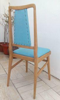 Silla vintage turquesa Luniqueblog.com