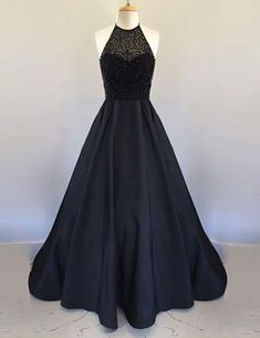 Beaded Prom Dress,Halter Prom Dress,A Line Prom Dress,Fashion Prom Dress,Sexy Party Dress, New Style Evening Dress