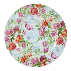 Bring the bright charm of a flower garden in full bloom right to your table with the Kathy Ireland Home Spring Bouquet salad plate by Gorham. Crafted of stoneware, this 8.25-inch salad plate is both dishwasher- and microwave-safe.