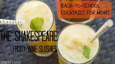Use frozen #fruit and moscato wine to make this easy adults-only slushie. #drinkrecipe #cocktails #wineslushie #recipe