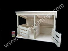 This handcrafted Horse Stable Toy is designed for those Extra Large Horses! Kids Woodworking Projects, Woodworking Basics, Custom Woodworking, Teds Woodworking, Toy Horse Stable, Horse Stables, Horse Tack, Homemade Kids Toys, Kids Play Table