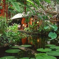 Find the beauty of paradise in Bali tour Bali may be small in size – you can drive around the entire coast in one long day – but its pro. Balinese Garden, Bali Garden, Asian Garden, Water Garden, Dream Garden, Outdoor Rooms, Outdoor Gardens, Courtyard Gardens, Outdoor Living