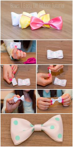 Autumn Klair: Bows | Easy DIY Ribbon Tutorial