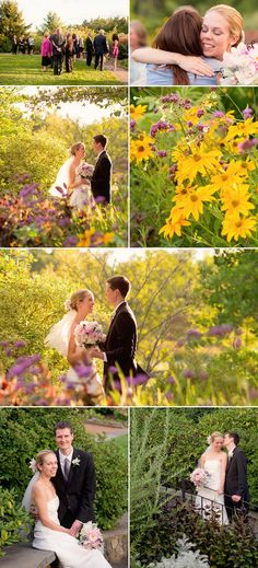 The Secret Garden was full of wildflowers for the nuptials of Becky and Travers in September 2010.