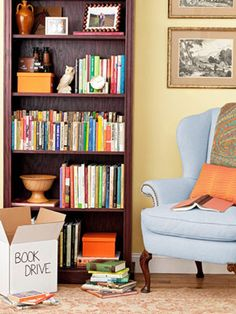 Are books taking over your home? Follow these simple tips to get your library in order in a hurry! #books #organizing