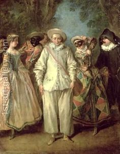 The Actors of the Commedia dellArte by Nicolas Lancret