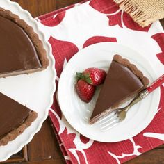 An exquisite chocolate and caramel tart