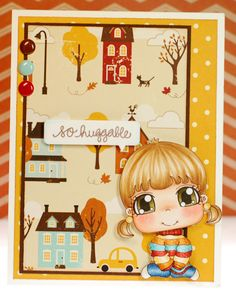 """A great fall card by Amy Young on a """"Thousand Sheets of Paper"""" made with Pee Wee Designs digi """"You're Fintastic!"""""""