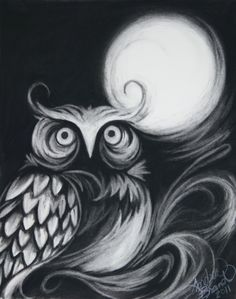 drawings of owls | Charcoal and Crayons: Scrappy Sparrows
