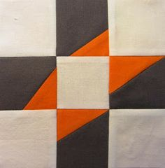 "6.5"" unfinished quilt block tutorial - 42 Quilts: Modern Monday - Block 38"