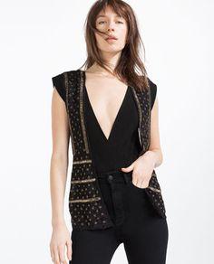 Image 2 of BEADED WAISTCOAT from Zara