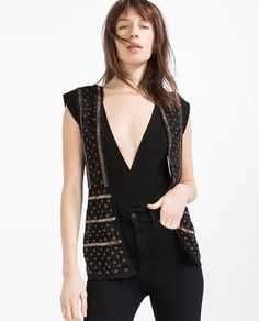 Image 2 of BEADED WAISTCOAT from Zara