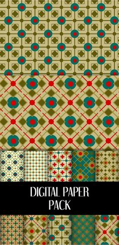 This retro Christmas digital scrapbook paper brings me all those beautiful memories! I use them for almost all my Christmas projects : #christmas #retro #digital #paper #etsy #scrapbook Digital Form, Digital Collage, Vintage Ephemera, Vintage Cards, Digital Scrapbook Paper, Retro Christmas, Tile Patterns, Christmas Projects, Little Gifts