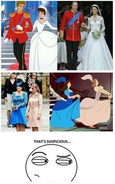 Mind blown! William and Kate are Cinderella and Prince Charming in real life