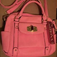 Merona Pink Handbag Purse Satchel Brand new! Merona Pink Handbag Purse Satchel NWT with shoulder strap Mini/medium small size. Merona Bags Satchels