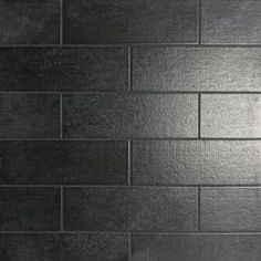 Offer beautiful touch to your wall space with the selection of this Ivy Hill Tile Piston Camp Black Matte Ceramic Subway Wall Tile. Easy to maintain. Subway Tile Colors, Black Subway Tiles, Color Tile, Colour, Ceramic Tile Bathrooms, Ceramic Subway Tile, Glass Subway Tile, Splashback Tiles, Kitchen Backsplash
