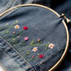 Embroider a store-bought jean jacket for a fabulous gift and fashion accessory!