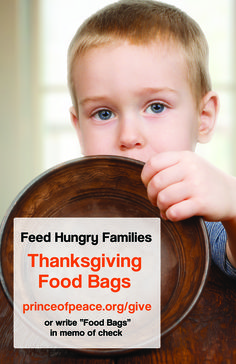 "Feed Hungry Families! Thanksgiving Food Bags click to give or write ""food bags"" in memo area of your check! #thanksgiving #poplctx #give"