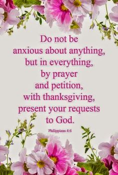 ☞ Be anxious for nothing, but in everything by prayer and supplication with thanksgiving let your requests be made known to God.  And the peace of God, which surpasses all comprehension, will guard your hearts and your minds in Christ Jesus.  (Philippians 4:6-7 NASB) ☜