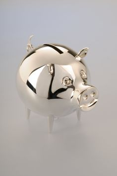 The New Born Collection:  Let your little one begin saving for a new bicycle, video game or special vacation with their own Adorable Sterling Silver Piggy Bank.  A beautiful, personalized keepsake, perfect to give a newborn or a grandchild celebrating a special birthday.  With Complimentary Hand-Engraving Service.  Comes in an Elegant Gift Wrapped Box.
