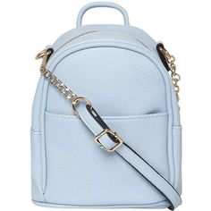 43fb6c3c88 Dorothy Perkins Blue Mini Backpack Cross Body Bag ( 35) ❤ liked on Polyvore  featuring