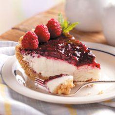 Contest-Winning Raspberry Cream Pie Recipe from Taste of Home -- shared by Julie Price, Nashville, Tennessee