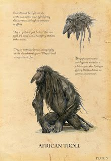 Troll 5 of 7 for a college project called 'Write your own brief'. As the title suggests we got to do anything we want. I chose to do a study on trolls entitled 'Trolls Unabridged - A Guide to Troll. Mythical Creatures Art, Mythological Creatures, Magical Creatures, Fantasy Creatures, Troll, Myths & Monsters, Dnd Monsters, African Mythology, Spiderwick