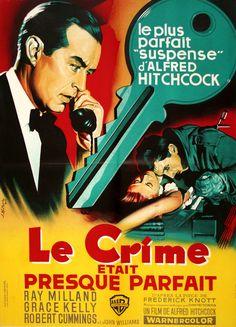 Walterfilm Museum HITCHCOCK POSTER COLLECTION - LE CRIME ETAIT PRESQUE PARFAIT -- DIAL M FOR MURDER (1954) -