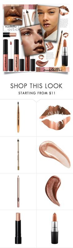 """metallic lipstick"" by mmk2k ❤ liked on Polyvore featuring beauty, Anastasia Beverly Hills, Charlotte Tilbury, Gucci, Bobbi Brown Cosmetics, MAC Cosmetics, LIPSTICK, makeup, metallic and lip"