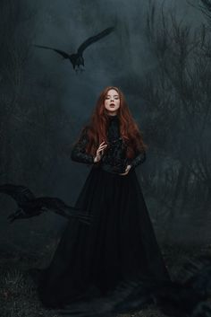 Return of the crows by Adam Bird Photography Queen Aesthetic, Princess Aesthetic, Witch Aesthetic, Book Aesthetic, Dark Fantasy Art, Fantasy Model, Halloween Fotografie, Dark Princess, Halloween Photography