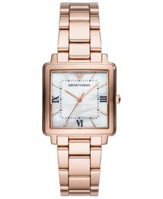 afa005c64f Emporio Armani Women's Rose Gold-Tone Stainless Steel Bracelet Watch  30x30mm. Arany Karóra ...