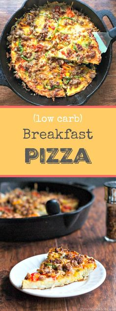 This low carb breakfast pizza would be great for breakfast, lunch or dinner. Easy and tasty meal. #SundaySupper: