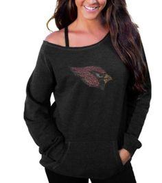 Arizona Cardinals Women's Sideliner II Crew Sweatshirt – Black  #AZCardinals #NFLFanStyle