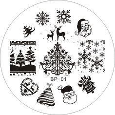 $2.99 Christmas XMAS Theme Nail Art Stamp Template Image Plate BORN PRETTY 01 - BornPrettyStore.com