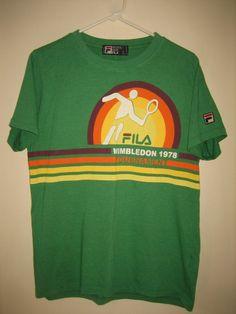 c944540ca Vintage Fila Wimbledon 1978 retro style tennis t-shirt Adult