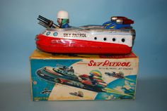 Nomura Sky Patrol Battery Operated Tin Toy.