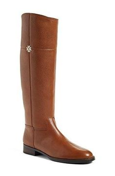 Tory Burch Boots Julie Riding Boot Tumbled Leather Veg Leather (8, Rustic Brown)  #love @ShoppeVero @Amazon #want