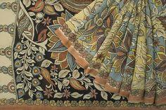 Tharakaram Handpainted Kalamkari Silk Sari 1022535 - Brands / Tharakaram - Parisera