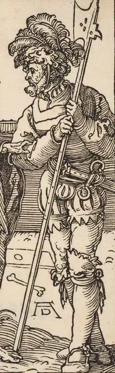detail from Albrecht Dürer - Death and the Lansquenet