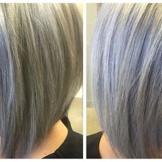 Close up on this silver/lavender/bluish show stopper from Melissa at Salon Suites Trussville! Perfect winter silver! Let Melissa know if you agree in the comments below! hair: @melissakeithstudio1926  #salonsuitesal #suitehair
