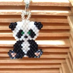 Panda Brick Stitch Pattern.  (This really is for a novice!  Get OUT!  lol)
