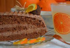 Narancsos csokitorta egyszerűen Bread, Cake, Birthday, Sweet, Desserts, Food, Candy, Tailgate Desserts, Birthdays
