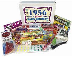 60th Birthday Gift Basket Box Jr 1956 Retro Nostalgic Candy 50s Decade Mom