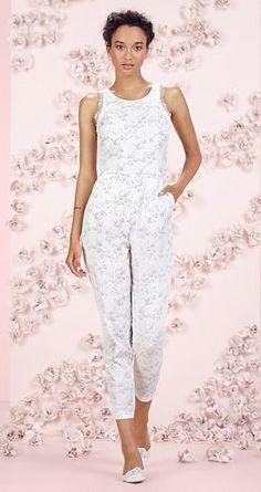 LC Lauren Conrad Runway Collection Fox Print Lace Jumpsuit - Women's