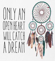 Only An Open Heart Dreamcatcher Canvas
