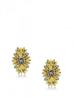 KOOVS Flower Stone Embellished Earrings Earrings Online, Stud Earrings, Stone, Flowers, Jewelry, Women, Rock, Jewlery, Jewerly