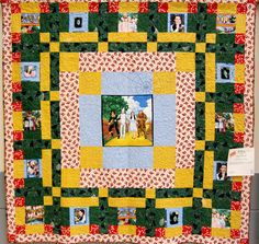 wizard of oz quilt | Quilt Made From Wizard of Oz Fabric
