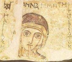 Coptic art, St Anne, 8th Century Icon