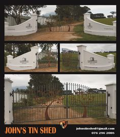 Steel cut outs of trees fitted to gate - Winery Road Forest Forest Wedding Venue, Wedding Venues, Tree Cut Out, Tin Shed, How To Remove Rust, Plasma Cutting, Mountain View, Cut Outs, The Ordinary